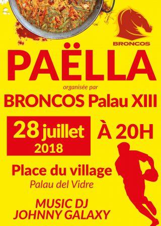 Paëlla de Palau XIII samedi 28 Juillet