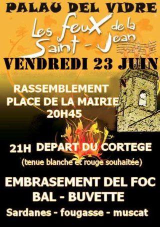 Fête de la St Jean, Vendredi 23 juin 2017