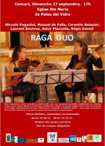 "CONCERT ""RAGA DUO "" @ Eglise Sainte Marie | Palau-del-Vidre | Occitanie | France"